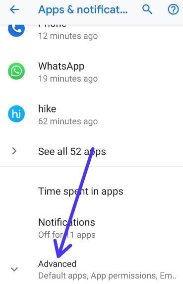 Pixel 3 apps and notification settings