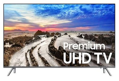 Samsung smart LED TV in shopping sale of black Friday USA