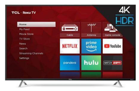 TCL best 55 inch Roku smart LED TV 2019 deals