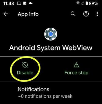 Disable System Apps on Android Pie 9.0