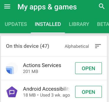 Disable apps on android 9 Pie Smartphone