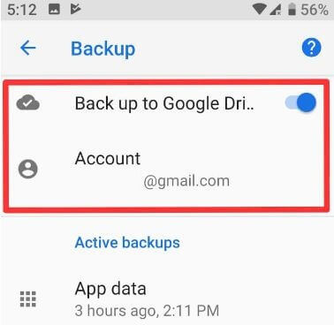 How to backup data on Android 9 Pie