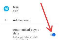 How to disable Auto sync on Android 9
