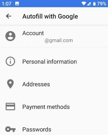 How to use Autofill in Pixel 3