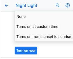 How to use Night light on Pixel 3