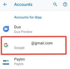 Turn off Google sync