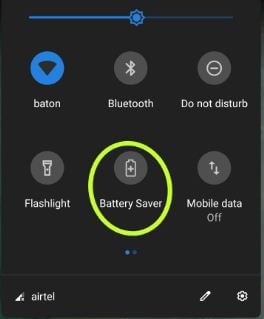 Turn on battery saver mode on Pixel 3 XL
