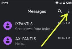 Change default SMS app on Pixel 3 XL