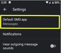 Change default SMS app on Pixel 3 and Pixel 3 XL