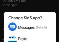 How to change default SMS app on Pixel 3