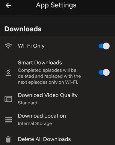 How to change settings for Netflix on Android