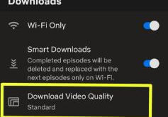 How to change video quality on Netflix Android