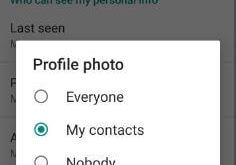 How to hide WhatsApp profile picture from certain contact
