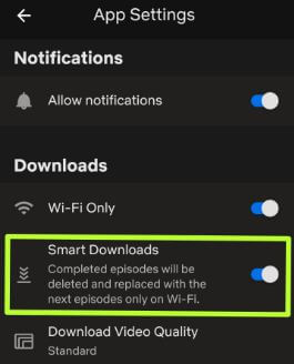 How to use Netflix smart downloads on Android
