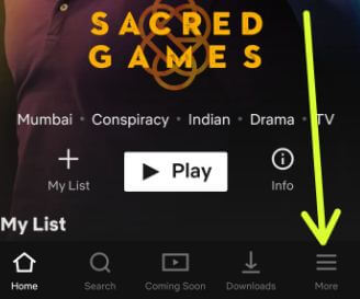 Open Netflix app on android devices