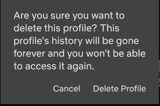 Remove profile on Netflix Android