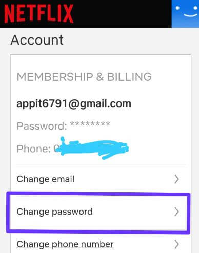 Reset your Netflix password using email or text messages