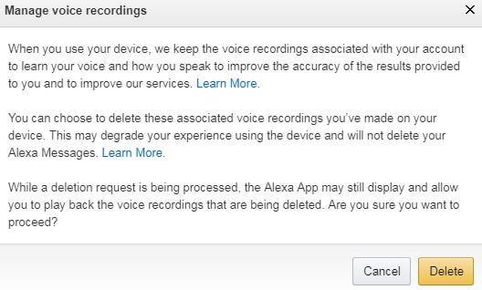 clear Alexa history android
