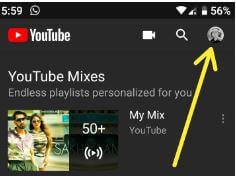 Change YouTube theme Android