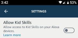 Enable kid skills for Alexa