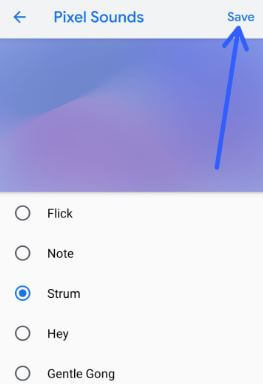 How to change default notifications sound on Pixel 3 XL Pie