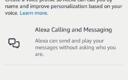 How to create a voice profile on Alexa app android