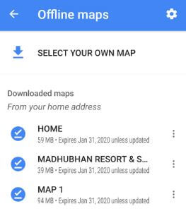 How to download offline Google Map on Android