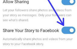 How to share Instagram story on Facebook on android