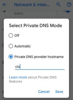 How to change DNS on Android 9 Pie