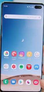 How to change screen mode on Galaxy S10 Plus