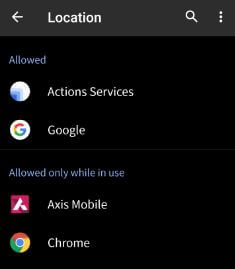Control app permission on android Q Beta 1