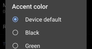 How to change accent color in Android Q 10