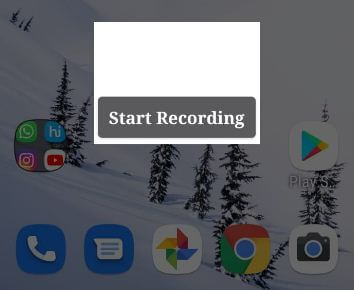 Record a video screen in Android Q 10