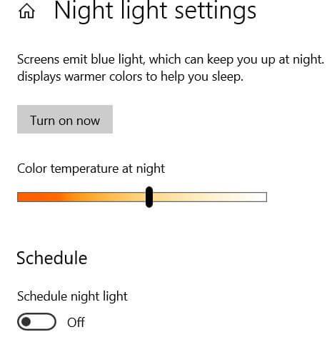 Adjust display settings in Windows 10 PC