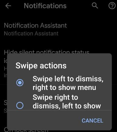 Android Q Beta 2 app notifications feature
