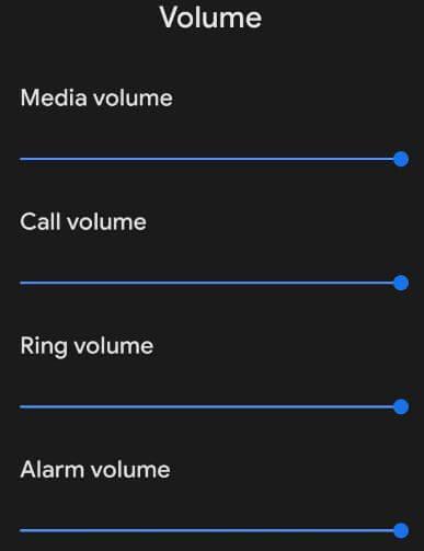 Android Q Beta 2 media volume