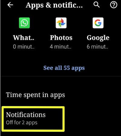 Android Q Beta 2 notification swipe direction settings