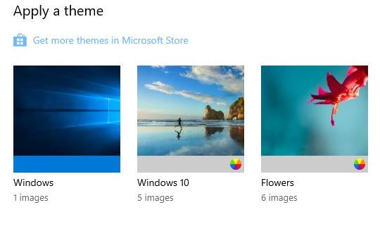 Change Windows 10 custom theme