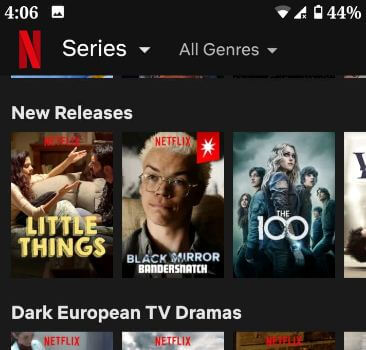 Download Netflix movies for offline viewing on Android device