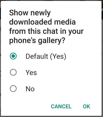 Hide WhatsApp media from gallery on Android for Group
