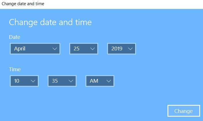 How to change date and time on Windows 10 PC