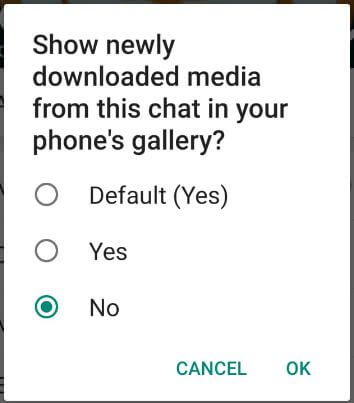 How to hide downloaded WhatsApp media from Gallery Android