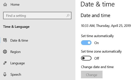 Manually change Windows 10 date and time format