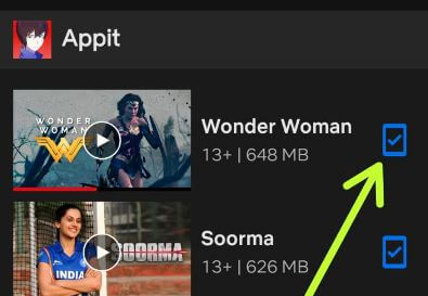 Remove downloaded Netflix movie android device