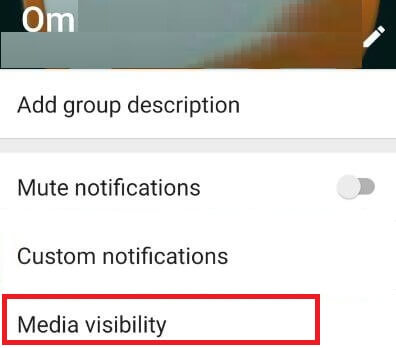 WhatsApp custom notification settings android