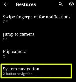 Android Q Beta 3 gesture navigation settings