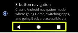 Change Android Q Beta 3 gesture navigation