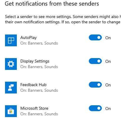 Change Windows 10 app notification priority levels