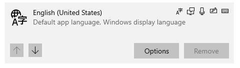 Change default keyboard input language in windows 10 PC