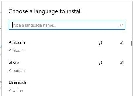 Change system language in Windows 10